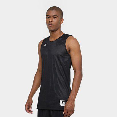 Camiseta Regata Adidas Treino Reversivel Masculina - Masculino-Preto