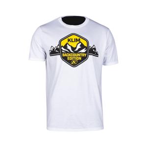 KLIM T-Shirt Klim Backcountry Edition, Hvid/Gul