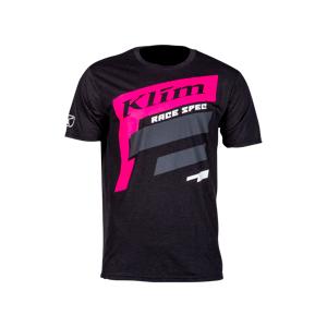 KLIM T-Shirt Klim Race Spec, Sort/Pink