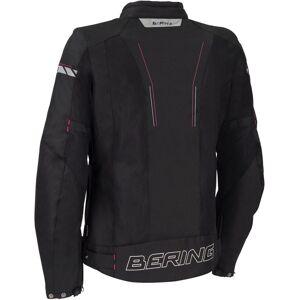 Bering Cancun Naisten moottoripyörä tekstiili takki  - Musta Pinkki - Size: 38