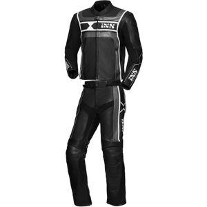 IXS Sport RS-500 Kaksiosainen moottoripyörä nahka pukuMusta Hopea