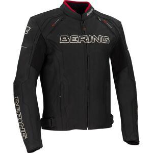 Bering Borg Moottori pyörä nahka takki  - Musta - Size: XL