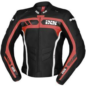 IXS Sport RS-600 1.0 Moottori pyörä nahka takkiMusta Valkoinen Punainen