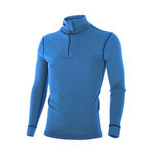 Brynje Classic Wool polotrøye m/glidelås Sky blue
