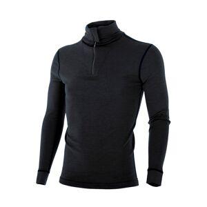 Brynje Classic Wool polotrøye m/glidelås Black