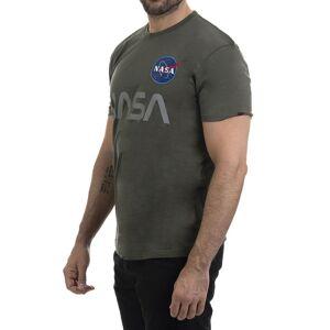 Alpha Industries NASA Reflective T - T-skjorte - Dark Olive - S