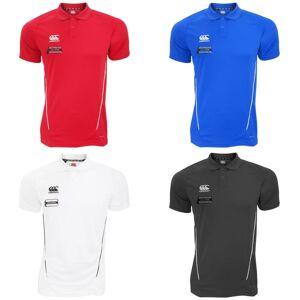 Canterbury Mens Team tørr fuktighet Wicking Polo skjorte Rød/hvit S
