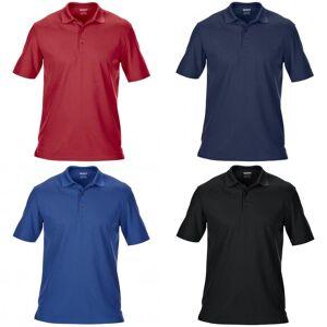 Gildan Mens dobbel Pique kort erme sport Polo skjorte Hvit 3XL