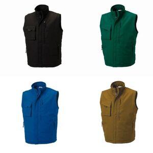 Russell Mens Workwear vest jakke Svart 2XL