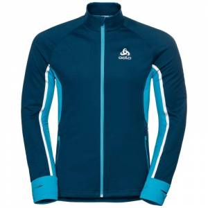 Odlo Men's Jacket Aeolus Pro Warm Blå