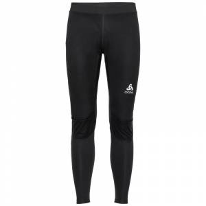 Odlo Men's Zeroweight Windproof Warm Tights Sort