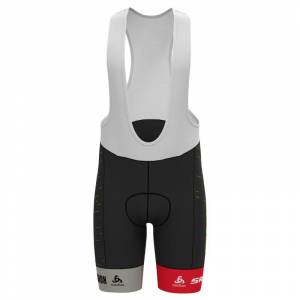Odlo Men's Racing Team Replica Tights Short Suspenders Sort