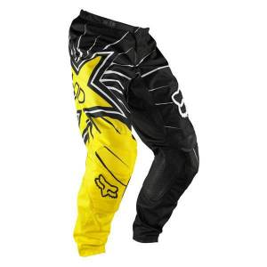 FOX 180 Rockstar Motocross bukser svart/gul Svart Gul 28