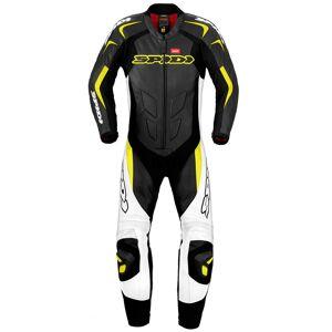 Spidi Supersport Wind Pro Ett stykke Motorsykkel skinn Dress Svart Gul 50