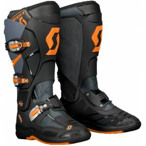 Scott 550 Motocross støvler Grå Oransje 43