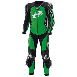 Held Full Speed Ett stykke Motorsykkel skinn Dress Svart Grønn 60