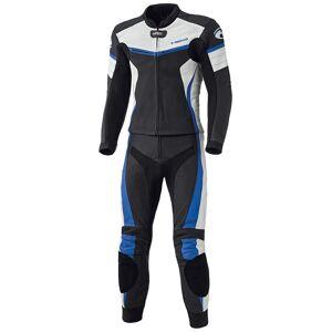 Held Spire Two Piece Motorcycle Leather Suit To stykke Motorsykkel ... Svart Blå 52