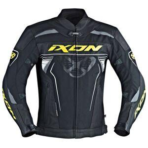 Ixon Frantic Skinn/tekstil jakke Svart Hvit Gul 46