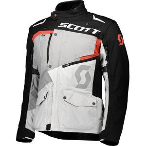 Scott Dualraid DP Motorsykkel tekstil jakke Grå Oransje 2XL