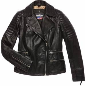 Blauer USA Icon Skinn jakke Svart XS