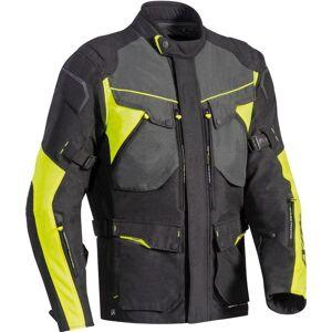 Ixon Crosstour HP Motorsykkel tekstil jakke Svart Grå Gul 2XL