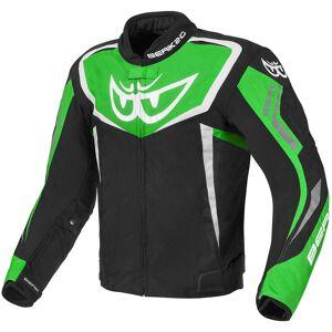 Berik Bad Eye Vanntett motorsykkel tekstil jakke Svart Hvit Grønn 48