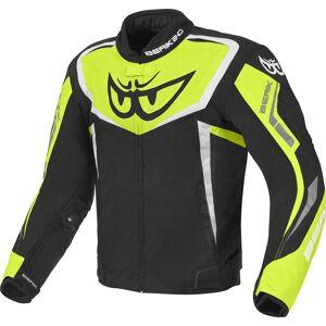 Berik Bad Eye Vanntett motorsykkel tekstil jakke Svart Hvit Gul 50