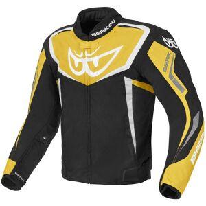 Berik Bad Eye Vanntett motorsykkel tekstil jakke Svart Gul 52