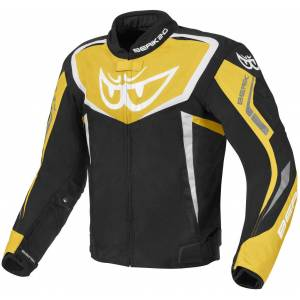 Berik Bad Eye Vanntett motorsykkel tekstil jakke Svart Gul 58