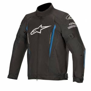 Alpinestars Gunner v2 Vanntett motorsykkel tekstil jakke Svart Blå 4XL