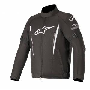 Alpinestars Gunner v2 Vanntett motorsykkel tekstil jakke Svart Hvit 3XL