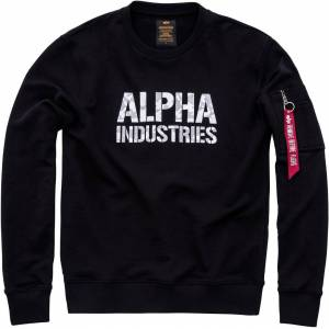 Alpha Industries Camo Print Sweatshirt Svart Hvit XL