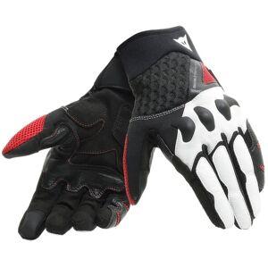 Dainese X-Moto Unisex Motorsykkel hansker Svart Hvit Rød M