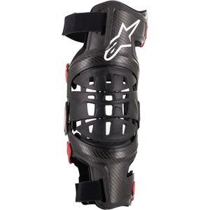Alpinestars Bionic-10 Carbon Kneet Protector venstre Svart Rød S