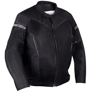 Bering Cancun Stor størrelse motorsykkel tekstil jakke Svart Grå L