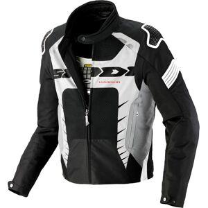 Spidi Warrior Net 2 Motorsykkel tekstil jakke Svart Hvit S