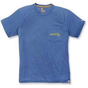 Carhartt Force Fiske grafisk t-skjorte Blå L