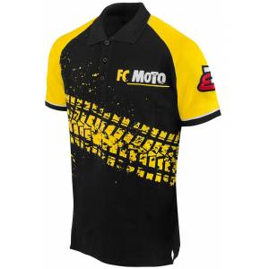 FC-Moto Corp Polo skjorte Svart Gul L