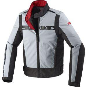 Spidi Solar Tex Motorsykkel tekstil jakke Svart Grå M