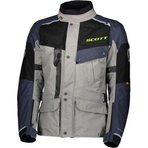 Scott Voyager Dryo Motorsykkel tekstil jakke Grå Blå XS