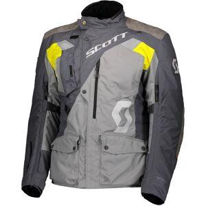 Scott Dualraid Dryo Motorsykkel tekstil jakke Grå Gul 4XL