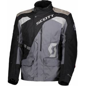 Scott Dualraid Dryo Motorsykkel tekstil jakke Svart Grå XL