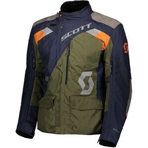 Scott Dualraid Dryo Motorsykkel tekstil jakke Grønn Blå 2XL