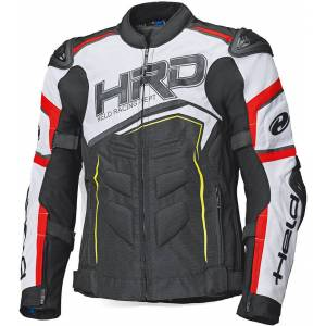 Held Safer SRX Motorsykkel tekstil jakke Svart Hvit Rød 3XL