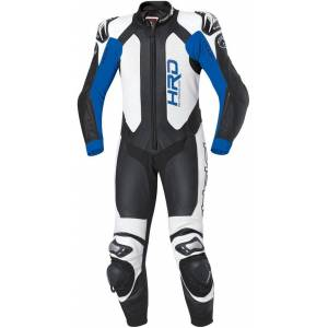 Held Slade One Piece Motorcycle Leather Suit Ett stykke Motorsykkel skinn Dress 58 Svart Blå
