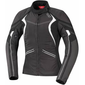 IXS Eileen Ladies tekstil jakke M Svart Hvit