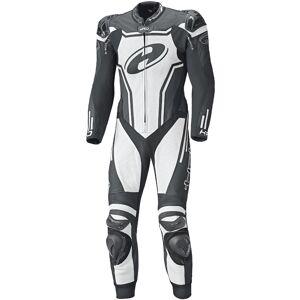 Held Rush One Piece Motorcycle Leather Suit Ett stykke Motorsykkel skinn Dress 30 Svart Hvit