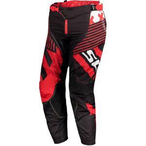 Scott 450 Patchwork Motocross bukser 28 Svart Rød