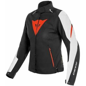 Dainese Laguna Seca 3 D-Dry Ladies motorsykkel tekstil jakke 40 Svart Hvit Rød