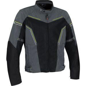 Bering Cancun Motorsykkel tekstil jakke 4XL Svart Grå Gul